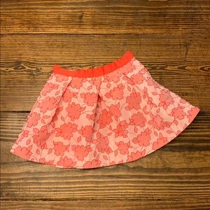 Janie and Jack Floral Jacquard Skirt